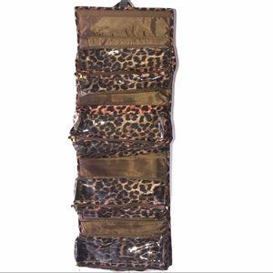 Joy Mangano Better Beauty Roll-Up Case Leopard